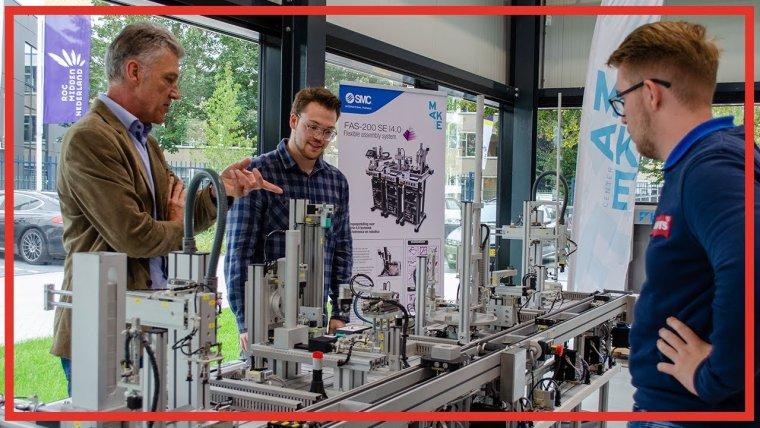 YouTube video - MBO studenten en vakmensen in metaalbranche werken samen in het MAKE Center Nieuwegein