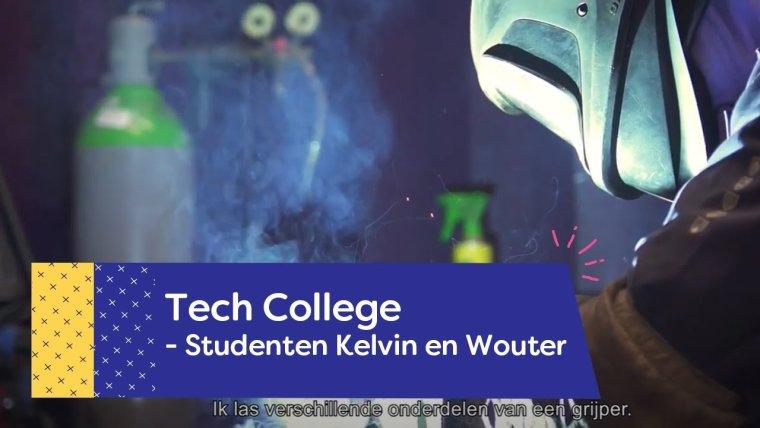YouTube video - Kelvin en Wouter over hun bbl opleiding op de Tech Campus